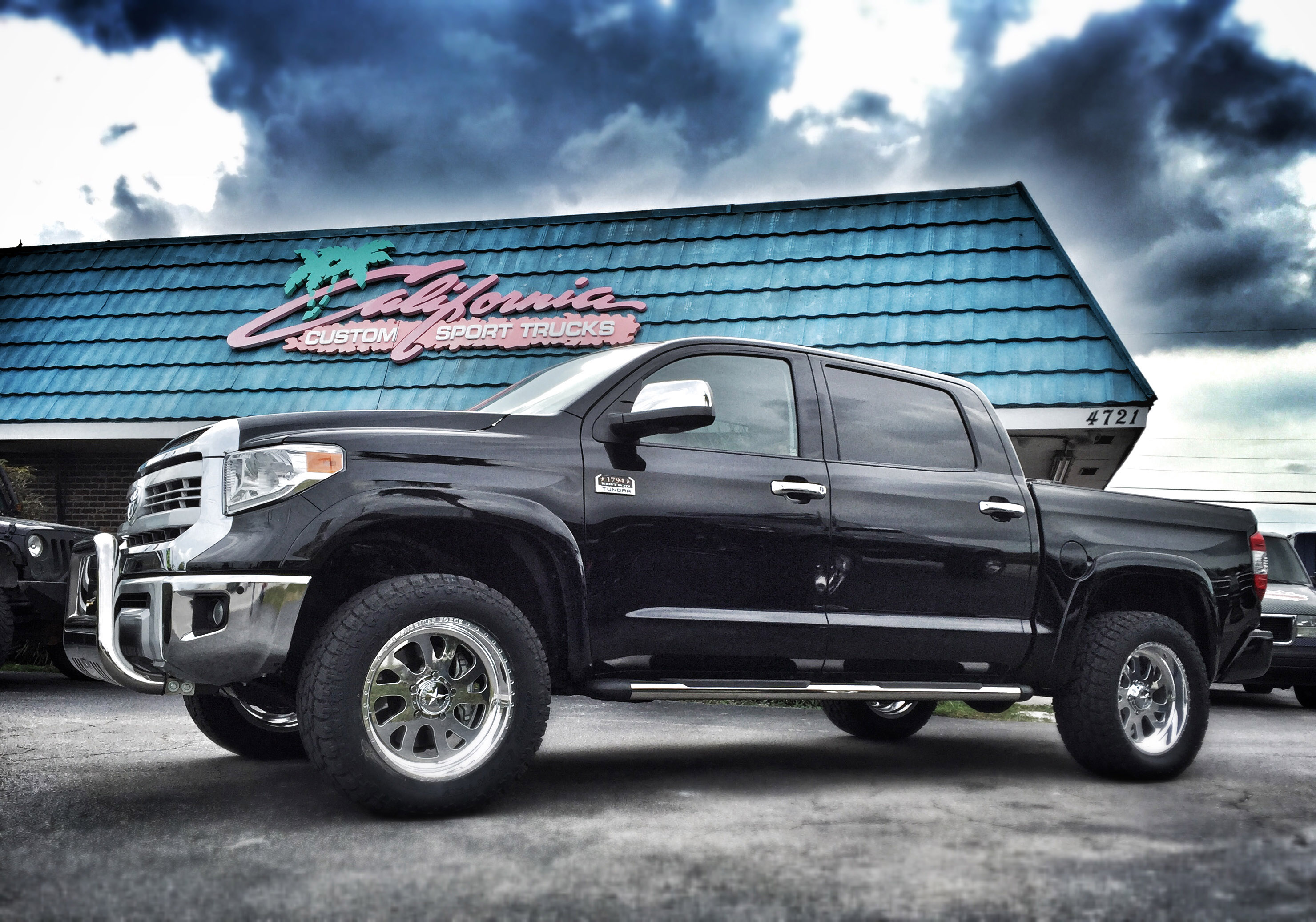 2011 TOYOTA TUNDRA WITH AMERICAN FORCE WHEELS   Lifted